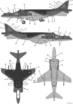 av 8b harrier 2 model airplane plan