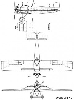 avia bh10 3v model airplane plan