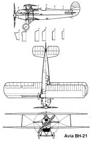 avia bh21 3v model airplane plan