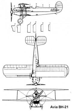 avia bh21 3v model airplane plan