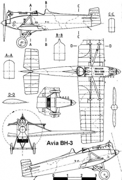 avia bh3 3v model airplane plan
