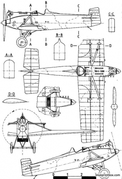 avia bh 3 model airplane plan