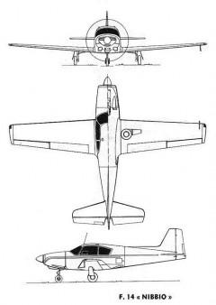 aviamilano nibbio 3v model airplane plan