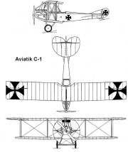 aviatik c1 3v model airplane plan