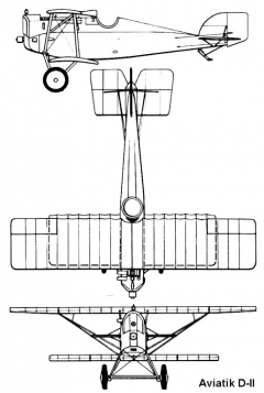 aviatik d2 3v model airplane plan
