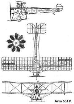 avro504k 3v model airplane plan