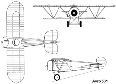 avro531 3v model airplane plan