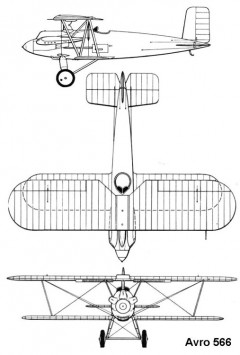 avro566 3v model airplane plan