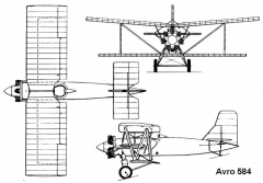 avro584 3v model airplane plan