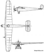 avro 560 1923 england model airplane plan