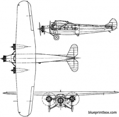 avro 618 ten 1929 england model airplane plan