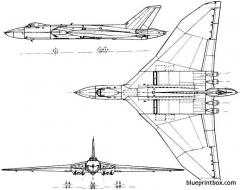 avro 698 vulcan 1952 england model airplane plan