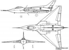 avro 707 1949 england model airplane plan