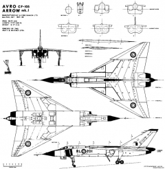 avro canada  cf 105 avro arrow model airplane plan