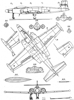 avro canada cf 100 canuck model airplane plan