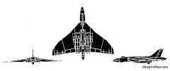 avro vulcan b2 model airplane plan