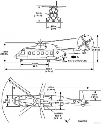 aw101 merlin helicopter model airplane plan