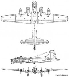 b17 flying superfortress model airplane plan