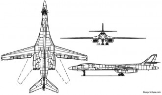 b1b lancer model airplane plan