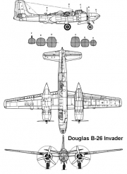 b26invader 3v model airplane plan