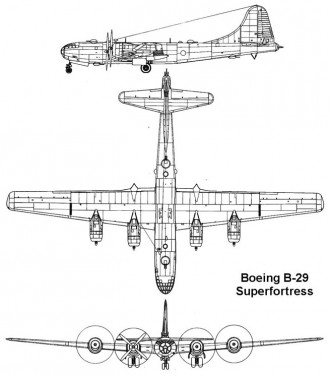 b29 1 3v model airplane plan