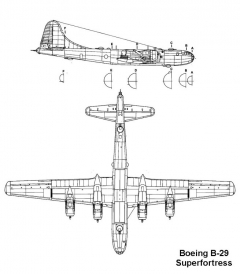 b29 2 3v model airplane plan