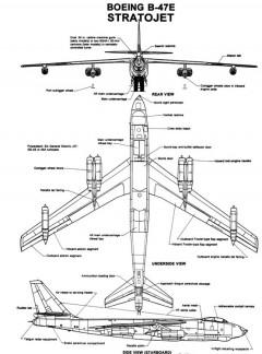 b47 2 3v model airplane plan