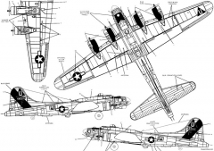 b 17g model airplane plan