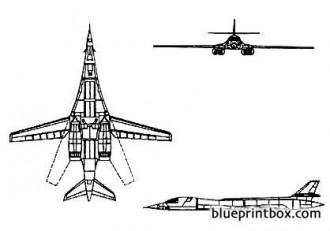 b 1 b lancer model airplane plan