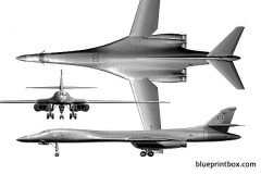 b 1 lancer model airplane plan