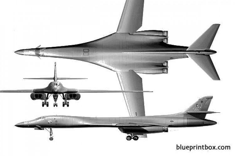 b 1 lancer model airplane plan