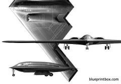 b 2 spirit model airplane plan
