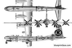 b 50 superfortress model airplane plan