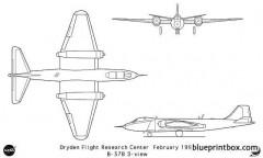 b 57b model airplane plan