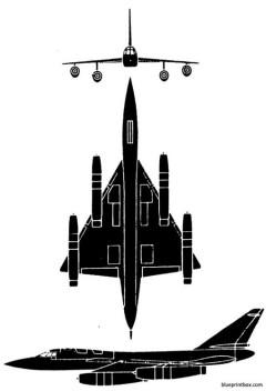b 58 hustler model airplane plan
