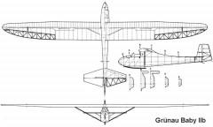 baby2b 3v model airplane plan