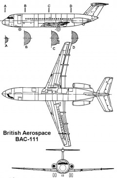 bac111 3v model airplane plan