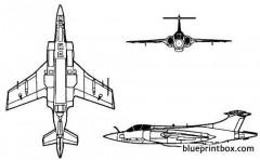 bac buccaneer 2 model airplane plan