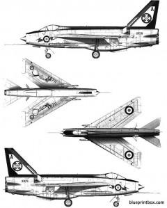 bac lightning f3 model airplane plan