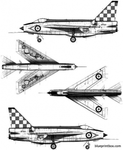 bac lightning f mk3 model airplane plan