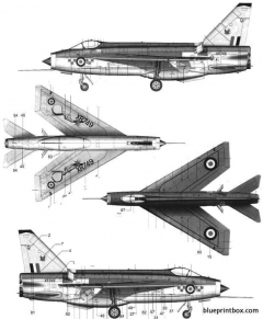 bac lightning f mk3 2 model airplane plan