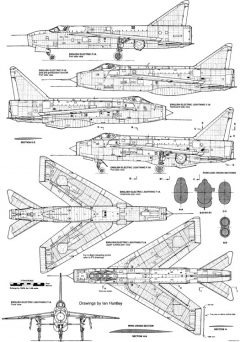 bac lightning fmk1 model airplane plan