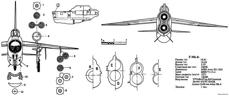bac lightning fmk6 3 model airplane plan