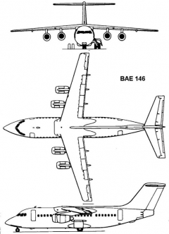 bae146 3v model airplane plan