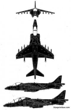 bae boeing gr mk7 harrier model airplane plan