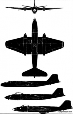 bae canberra model airplane plan