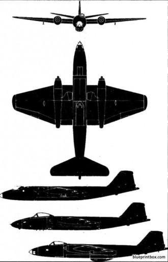 bae canberra model airplane plan