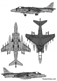bae harrier gr7 model airplane plan