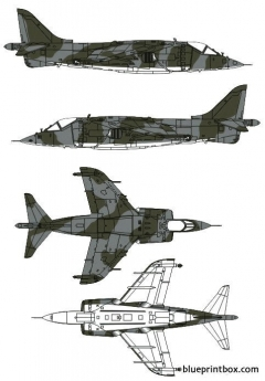bae harrier grmk1 model airplane plan