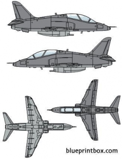 bae hawk t mk1a model airplane plan
